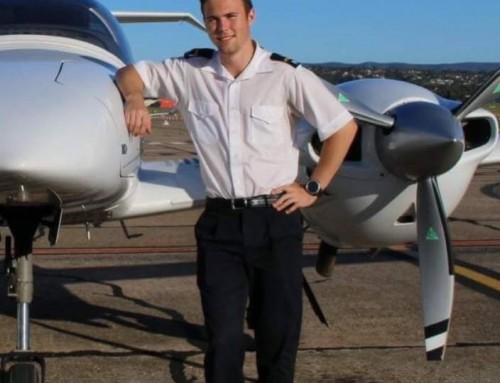 Sky no limit to Old Boy aviator